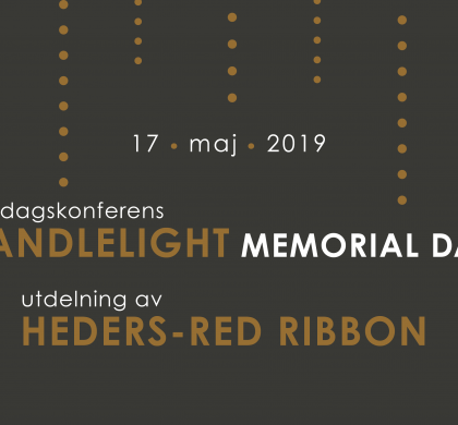 Candlelight Memorial Day-konferens & Heders-Red Ribbon 2019